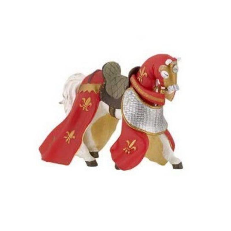 Cal rosu drapat - Figurina Papo