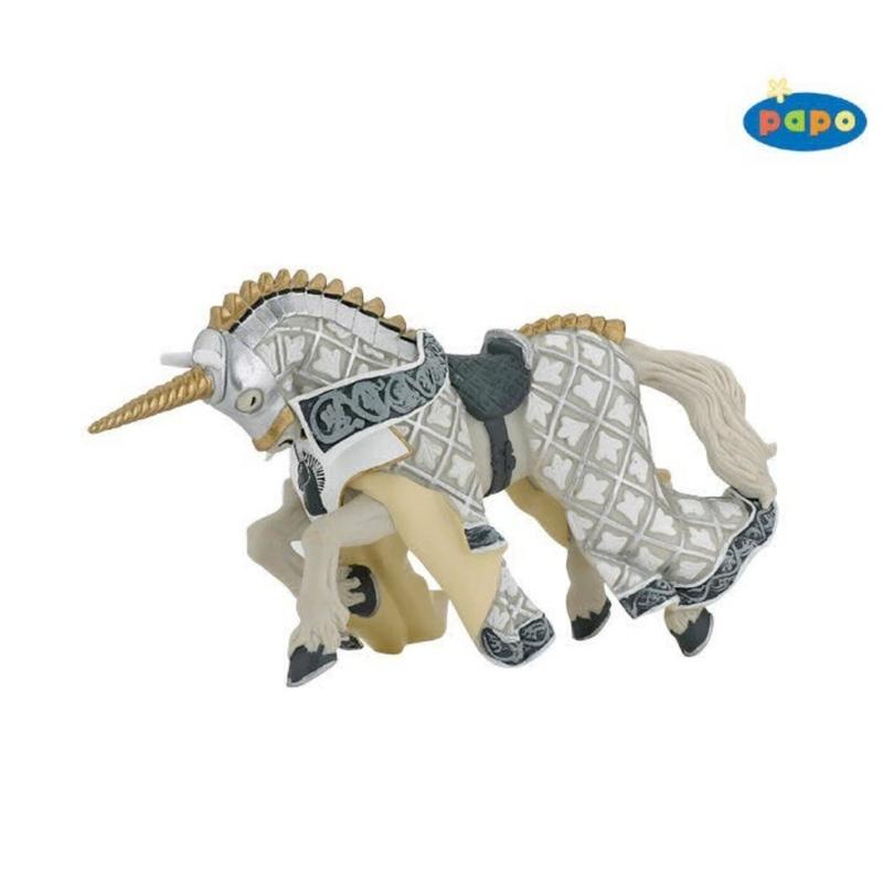 Calul cavalerului unicorn - Figurina Papo
