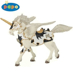 Pegasus unicorn alb-negru - Figurina Papo
