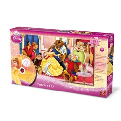 Puzzle Disney + CD cu povestea Frumoasa si Bestia