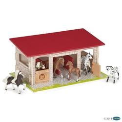 Papo Boxe rosi (din lemn) pentru cai