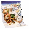 Minifelicitare 3D Craciun - Santa & polar bears