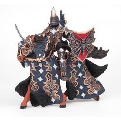 Cavalerul fluture si calul sau (negru) - Set figurine Papo