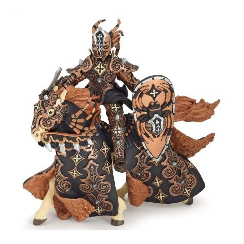 Set figurine Papo Cavalerul paianjen negru
