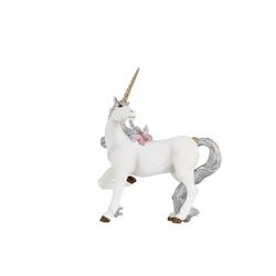 Figurina papo Unicorn argintiu