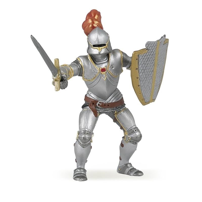 Figurina Papo-Cavaler in armura (rosu)