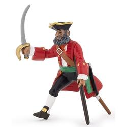 Figurina Papo - Capitan cu picior de lemn rosu