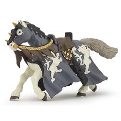Figurina Papo - Calul calaretului negru cu ax