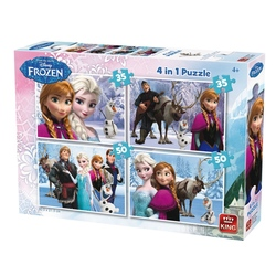 Puzzle 4 in 1 Frozen(12,16,20,24 piese)