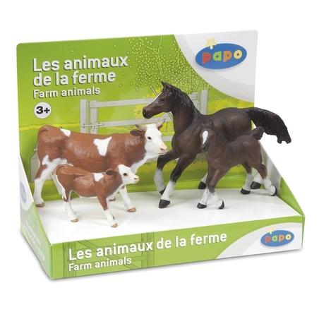 Set figurine Papo-Cutie set animale ferma