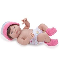 Jucarie bebelus cu caciulita fucsia