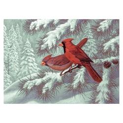 Pictura pe nr avansati mare-Pasarele Cardinalidae 32x40 cm