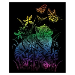 Gravura curcubeu-Pisicuta si fluturii
