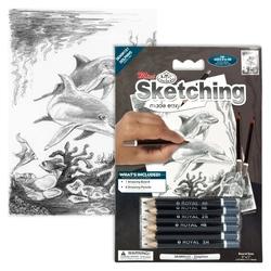 Schita creion incepatori-Delfini