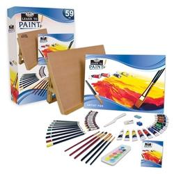 Trusa pictura-Invata sa pictezi 59 piese 33x47x7  cm