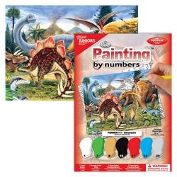 Pictura pe nr mica-Dinozauri 13x18 cm