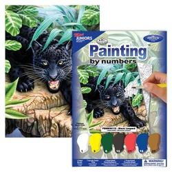 Pictura pe nr mica-Leopard negru 13x18 cm