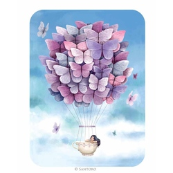 Felicitare Eclectic - Butterfly Balloon