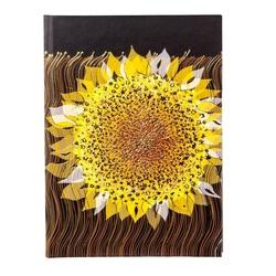 Agenda A5 embosata auriu Floarea soarelui