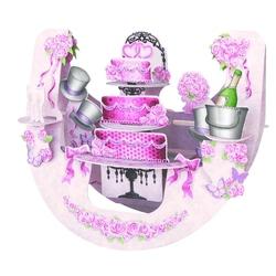 Felicitare 3D PopnRock - Tort roz