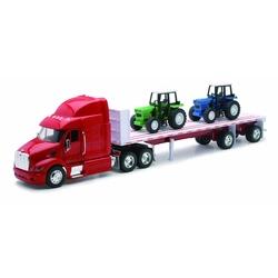 Camion diecast Peterbilt 387 cu platforma si  2 tractoare
