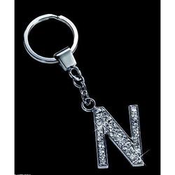 Breloc cu cristale litera N