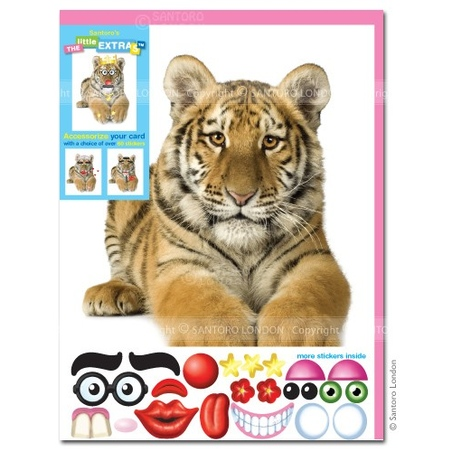 Felicitare amuzanta Little Extra Tigru