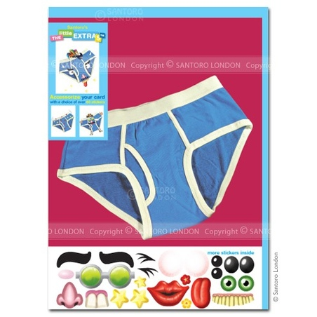 Felicitare amuzanta Little Extra Pantaloni scurti