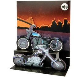 Felicitare muzicala Motocicleta Harley Davidson