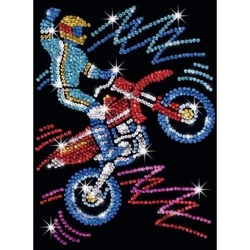 Pin-in-Art-set creativ cu paiete-Motocicleta