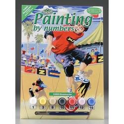 Prima mea pictura pe nr.junior mic Skateri 24x33 cm