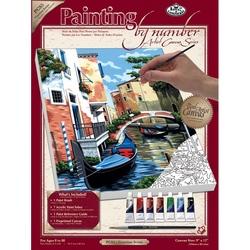 Pictura pe panza 23x31x2,5 cm - Scena Venetiana