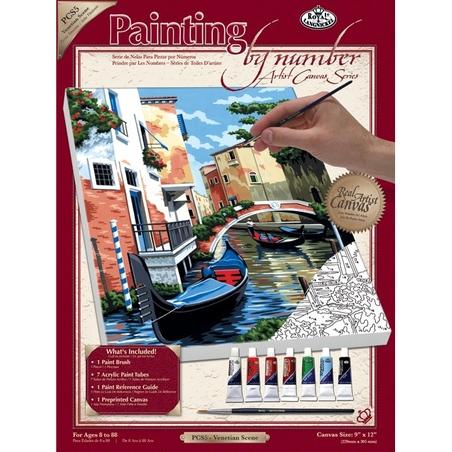 Canvas pictura pe nr.23x31x28-Scena Venetiana