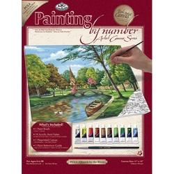 Set pictura pe panza 28x36x25 - Peisaj
