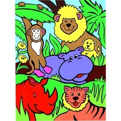 Prima mea pictura pe nr junior Animale din jungla 23x30 cm