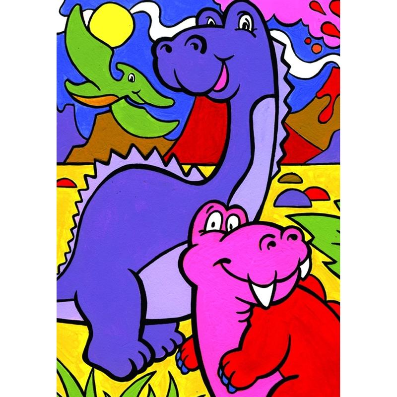 Prima mea pictura pe nr junior Dinozauri 23x30 cm