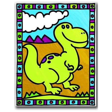 Primele mele 2 picturi pe nr.junior-Dinozauri 24x33 cm