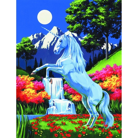 Canvas pictura pe nr.23x31x31-Unicorn