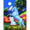 Canvas pictura pe nr.23x31x31-Unicorn