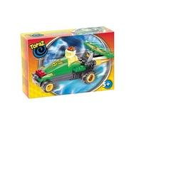 Set de construit Masina de curse verde 40 piese
