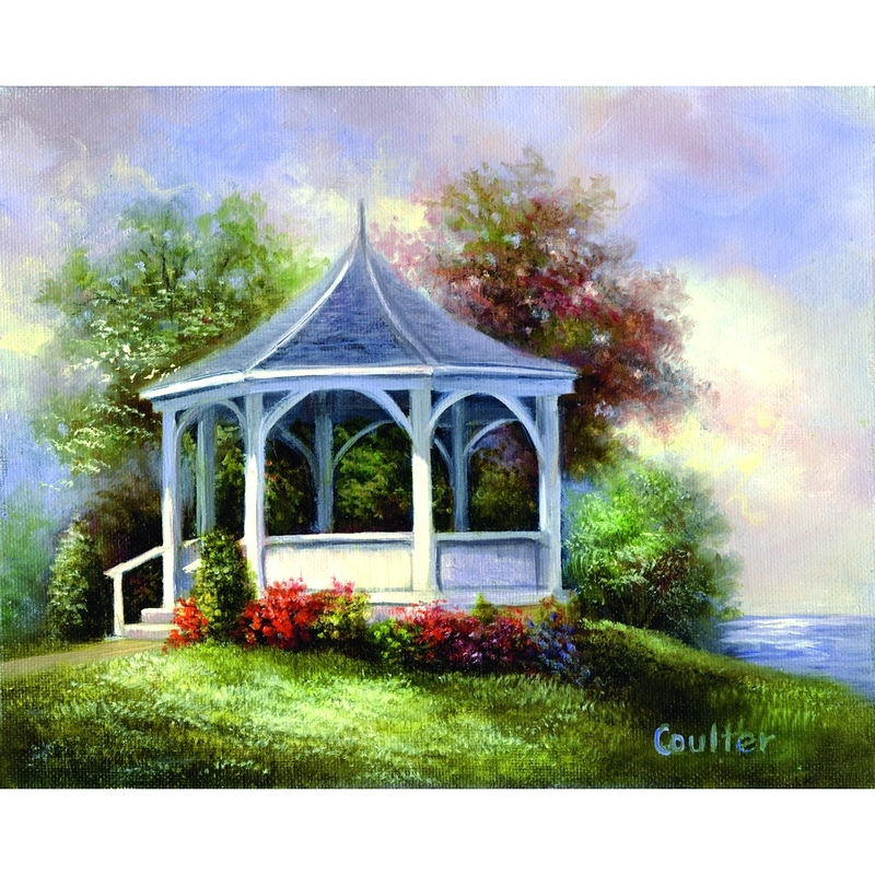 Canvas master 11 X 14 ACRYLIC Lac GAZEBO