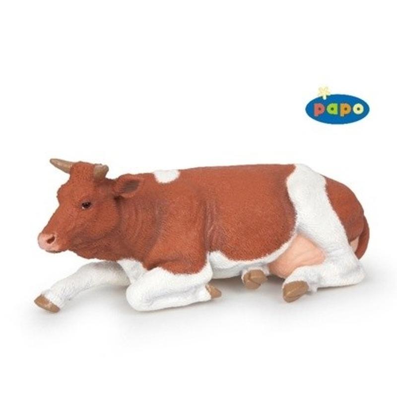 Figurina Papo-Vaca sezand rasa Simmental