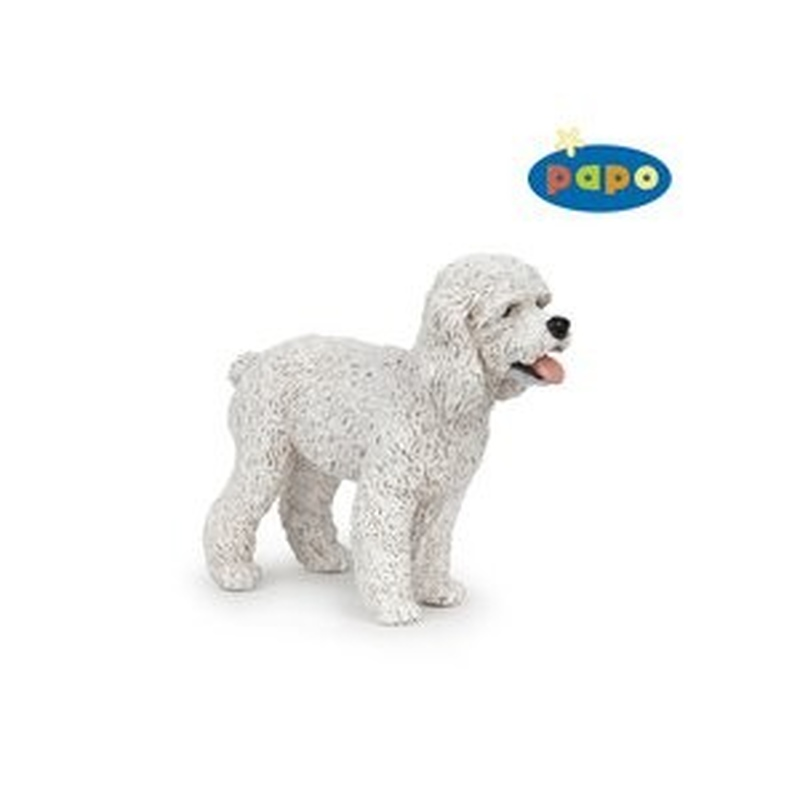Catel Poodle alb - Figurina Papo