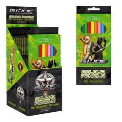 Creioane colorate-12 culori G.I.Joe