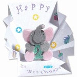 Minifelicitare 3D-Elefantel