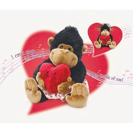 Gorila - jucarie din plus mecanica si muzicala