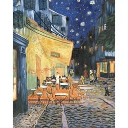 Set pictura pe panza - Cafenea stradala noaptea