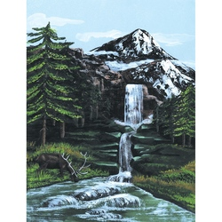 Pictura pe panza 23x31x33 - Peisaj montan