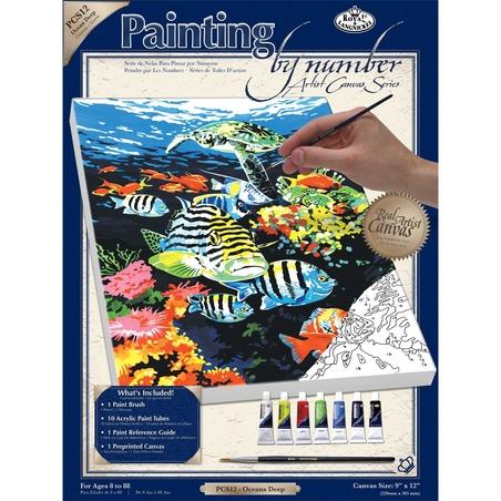 Pictura pe panza 23x31x33 - Adancurile oceanului