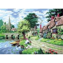 """Pictura creativa pe numere avansati - """"Peisaj rural"""""""
